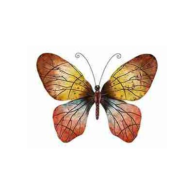 UMA Enterprises Rustic Metal Butterfly Wall Décor