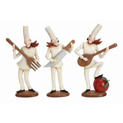 Loft Polystone Chef Statues (Set of 3 Assorted) (Set of 3)