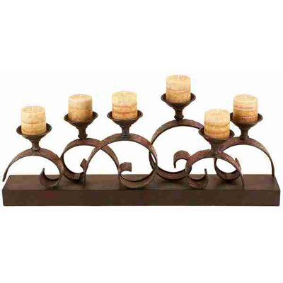 UMA Enterprises Metro Distinguished Metal Candelabra