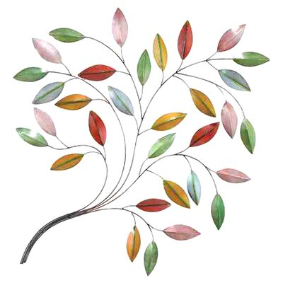UMA Enterprises Rustic Nature In Metal Leaf Wall Décor