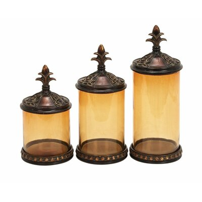 <strong>UMA Enterprises</strong> 3 Piece Toscana Decorative Jar Set