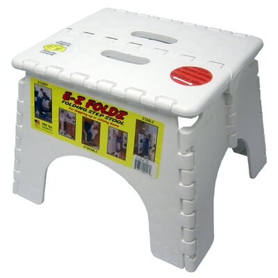 B&R Plastics 1-Step EZ Folds Folding Step Stool