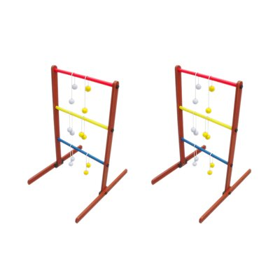 Red Cup Pong Ladder Toss Tailgate Game Set