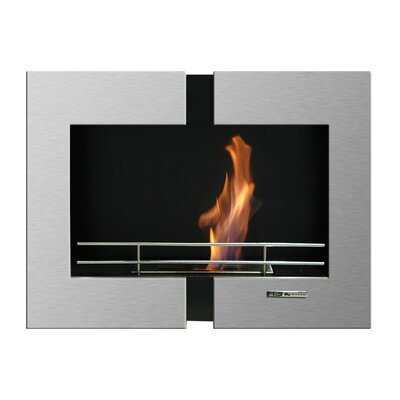 BlackandStone VioFlame Wall Mount Ehtanol Fireplace