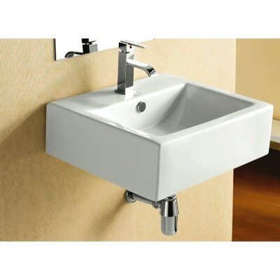 Caracalla 6.25&quot; X 17.87&quot; Square Wall Mount Bathroom Sink
