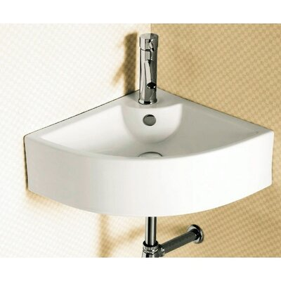 Ceramica Corner Vessel Bathroom Sink - Caracalla CA4053