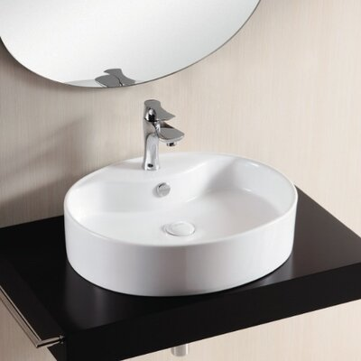 Caracalla Ceramica II Bathroom Sink with Flat Basin