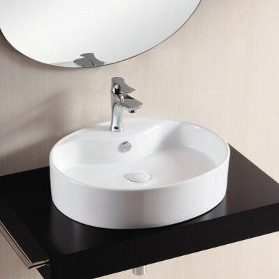Caracalla Ceramica II Bathroom Sink with Flat Basin