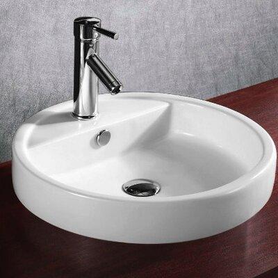 Round Bathroom Basin : Caracalla Ceramica Round Self Rimming Bathroom Sink - Caracalla ...