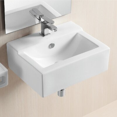Ceramica II Wall Mounted Bathroom Sink - Caracalla CA4103C