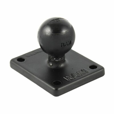 "RAM Mount 2"" x 1.7"" Base with AMPs and 1"" Ball for the Garmin Zumo, TomTom Rider and Urban Rider"