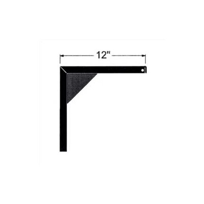 "Claridge Products 12"" Non-Adjustable Screen Mounting Brackets (pair)"