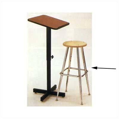 Claridge Products Height Adjustable Low-Back Drafting Chair with Footrest
