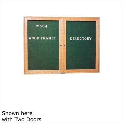 "Claridge Products 36"" x 24"" Wood Framed Directory with Glass Door"