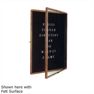 Claridge Products No. 594 Radius Corner LCS Bulletin Board and Directory Cabinet