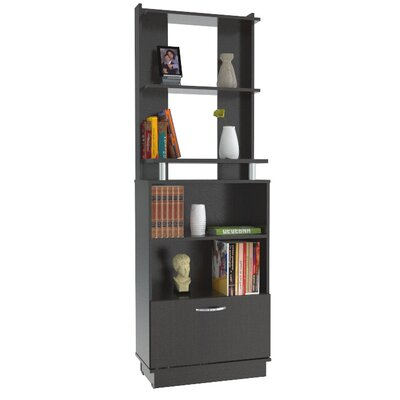 Inval Bookcase with Storage Area in Espresso Wenge