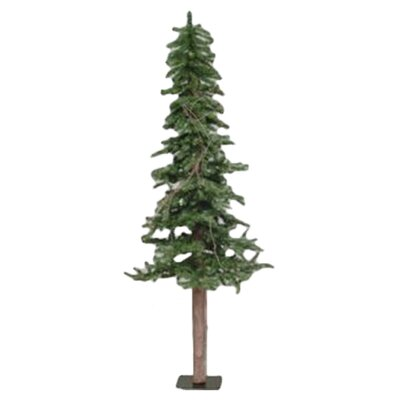 Vickerman Alpine Tree 6' Green Pine Artificial Christmas Tree with Stand