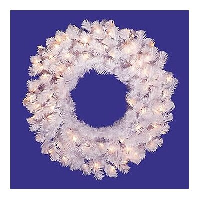 Vickerman Co. Prelit Crystal  Wreath with Clear Lights