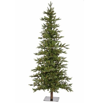 Vickerman Shawnee Fir 8' Green Alpine Artificial Christmas Clear Lights with 450 Clear Lights ...