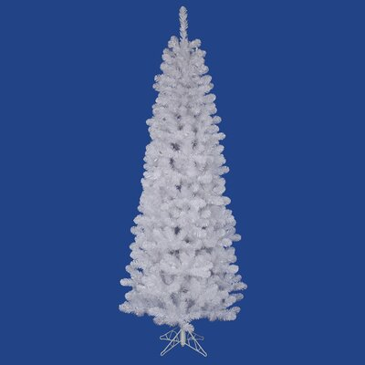 Vickerman White Salem Pencil Pine 5.5' Artificial Christmas Tree with Stand