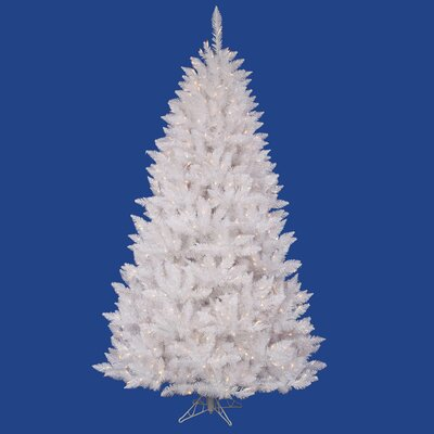 "Vickerman Co. Crystal White Spruce 4' 6"" Artificial Christmas Tree with 180 LED White Lights with Stand"