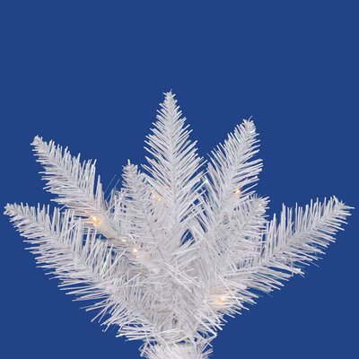 Vickerman Co. Crystal White Spruce 7.5' Artificial Christmas Tree with 750 Clear Lights with Stand