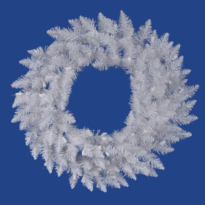 "Vickerman Co. Crystal White Spruce 72"" Wreath"