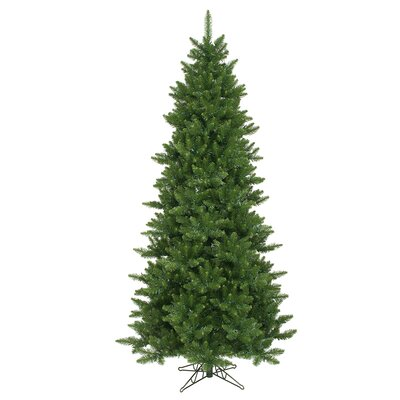 Vickerman Camdon Fir 8.5' Green Artificial Slim Christmas Tree with Stand