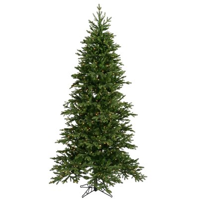 Vickerman Co. Balsam Fir 7.5' Green Artificial Christmas Tree with 550 Clear Lights with Stand
