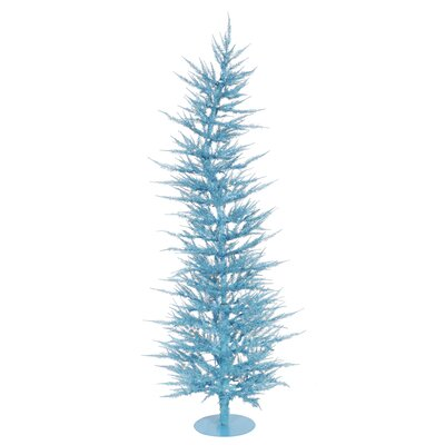 Vickerman Colorful Laser 6' Sky Blue Artificial Christmas Tree with 150 Lights