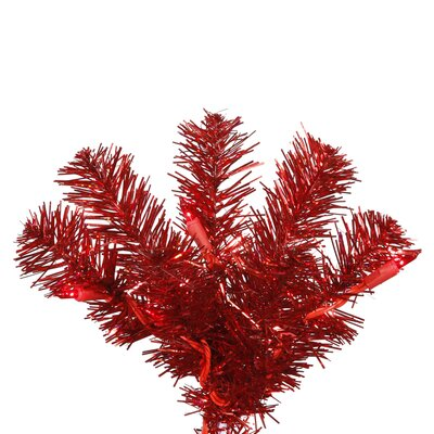 Vickerman Co. 9' Artificial Pencil Christmas Tree in Red