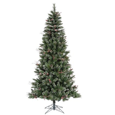 Vickerman 9' Green Snowtip Berry/Vine Artificial Christmas Tree with Metal Stand