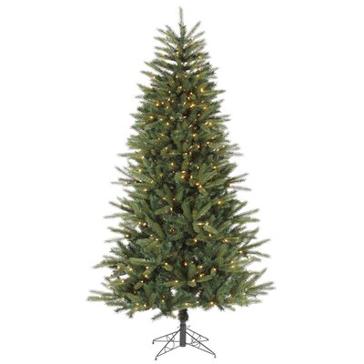 Vickerman 7' Green Bradfo Red Fir Artificial Christmas Tree with 400 Clear Mini Lights with ...