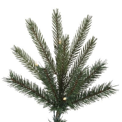 Vickerman Co. 7' Green Bradfo Red Fir Artificial Christmas Tree with 400 Clear Mini Lights with Stand