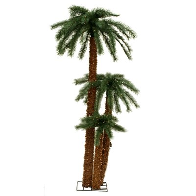 Vickerman Co. Triple Palm Tree with Clear Lights