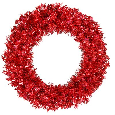 "Vickerman Co. Red Wide Cut 48"" Wreath in Red"