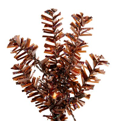 Vickerman Co. Mocha Wide Cut 7.5' Artificial Christmas Tree with Clear Lights in Mocha