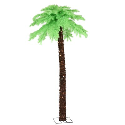 7' Chartreuse Palm Tree with Clear Lights