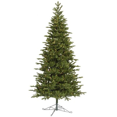 Vickerman Co. Maine Balsam Fir 8.5' Green Artificial Christmas Tree with 700 Clear Dura-Lit Mini Lights with Stand