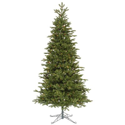 Vickerman Maine Balsam Fir 8.5' Green Artificial Christmas Tree with 700 Multicolored Dura-Lit ...
