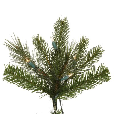Vickerman Co. Shoreline Mixed Pine 7.5' Green Artificial Christmas Tree with 550 LED Italian Clear Lights with Stand