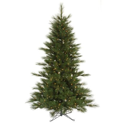 Vickerman Co. Scotch Pine 7.5' Green Artificial Christmas Tree with 450 Clear Dura-Lit Mini Lights