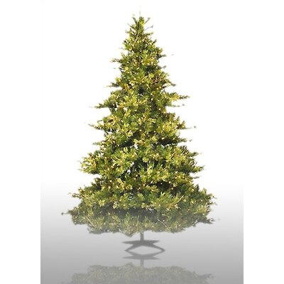 Vickerman Country Pine 6.5' Green Pine Artificial Christmas Tree with 500 Pre-Lit Clear Lights ...