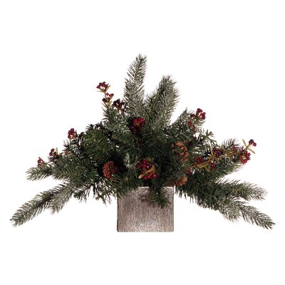 Vickerman Co. Floral Artificial Potted Pine Branch in Multicolor