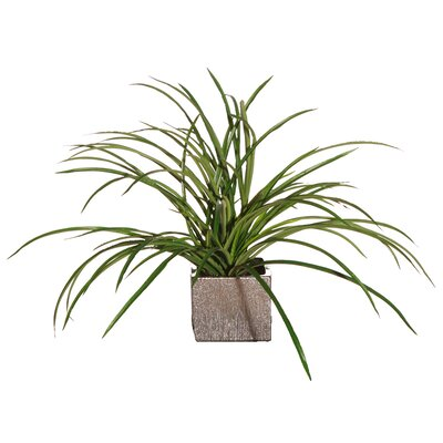Vickerman Co. Floral Artificial Potted Deluxe Grass Desk Top Plant in Pot