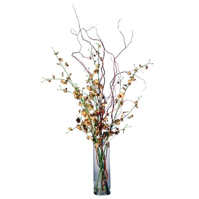 Vickerman Co. Floral Artificial Potted Dancing Orchid Vase in Multicolor