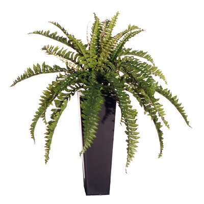Vickerman Co. Floral Artificial Double Boston Fern Floor Plant in Decorative Vase