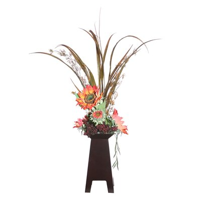 Vickerman Co. Floral Sunflower and Grass