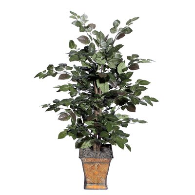Vickerman Co. Blue Wreath and Garland Bush Floor Plant in Planter
