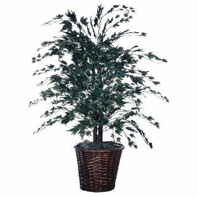 Vickerman Co. Blue Wreath and Garland  Bush Floor Plant in Decorative Vase